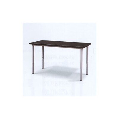 Fleetwood Adjustable Height Steel Frame Science Table with Black Epoxy Resin Top