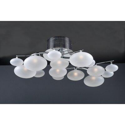 Comolus 8 Light Semi Flush Mount by PLC Lighting