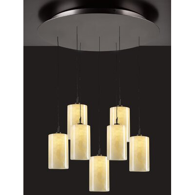 Cylindro 7 Light Mini Pendant by PLC Lighting