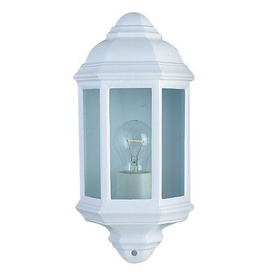 Searchlight Outdoor and Porch 1 Light Outdoor Wall Light in White