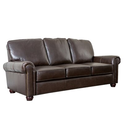 abbyson living bliss leather sofa reviews wayfair