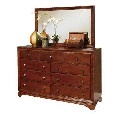 Rosette 9 Drawer Dresser with Mirror by Abbyson Living