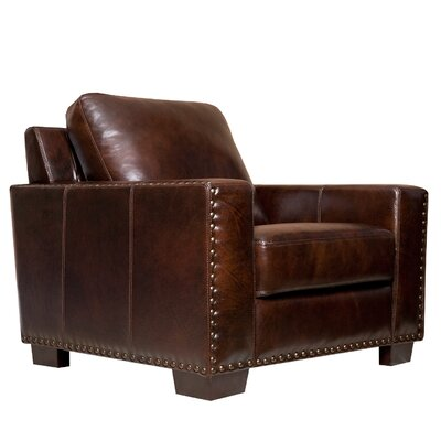Beverly Hand Rubbed Leather Armchair by Abbyson Living