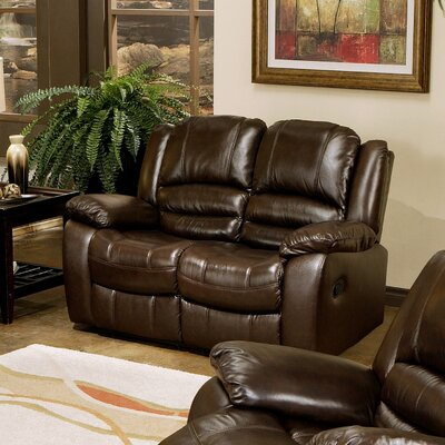 Providence Italian Leather Reclining Loveseat by Abbyson Living