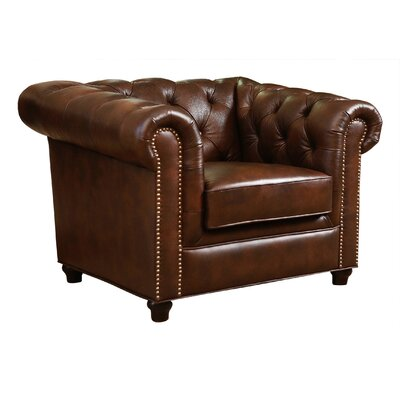 Bedell Hand Rubbed Top Grain Leather Arm Chair by Abbyson Living