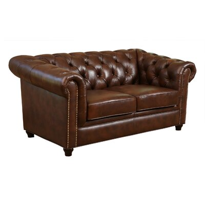 Bedell Hand Rubbed Top Grain Leather Loveseat by Abbyson Living