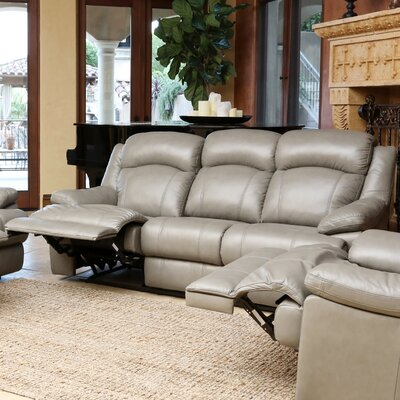 Warwick Top Grain Leather Reclining Sofa by Abbyson Living