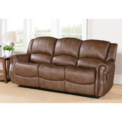 Calabasas Leather Reclining Sofa by Abbyson Living