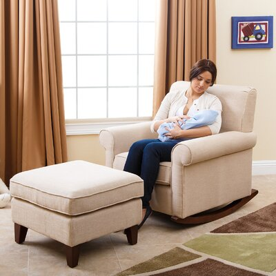 Marcella Rocking Chair and Ottoman by Abbyson Living