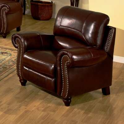 Charlotte Reclining Leather Arm Chair by Abbyson Living