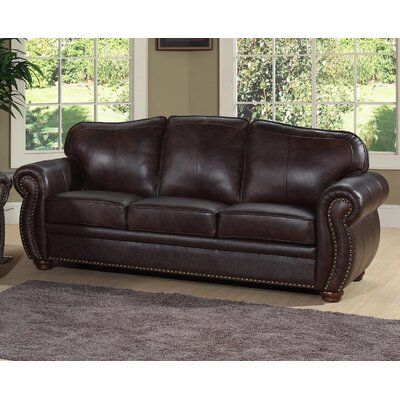 abbyson living palazzo leather sofa reviews wayfair