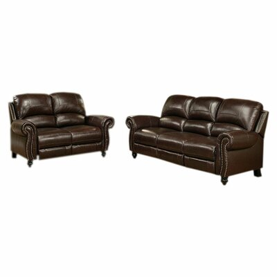 abbyson living charlotte leather sofa and loveseat set reviews