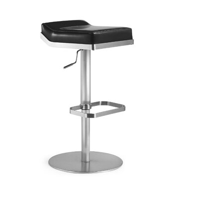 Dino Adjustable Height Swivel Bar Stool with Cushion by Bellini Modern Living