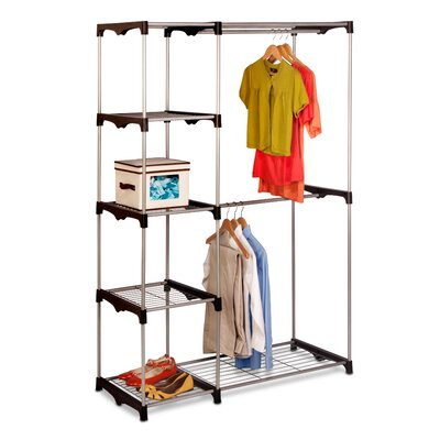 "Double Rod 68"" H x 45.25"" W x 19.7"" D Freestanding Closet Product Photo"