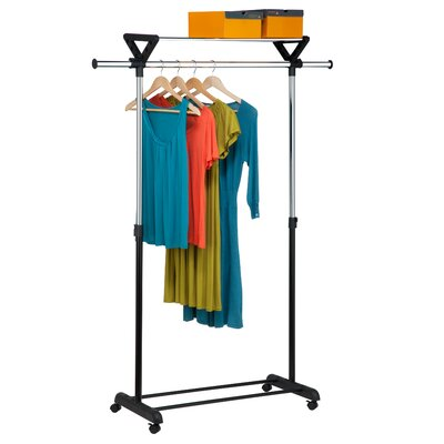 "67.9"" H x 26.4"" W x 18.3"" D Top Shelf Garment Rack Product Photo"