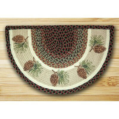 Pinecone Printed Brown Slice Area Rug by EarthRugs