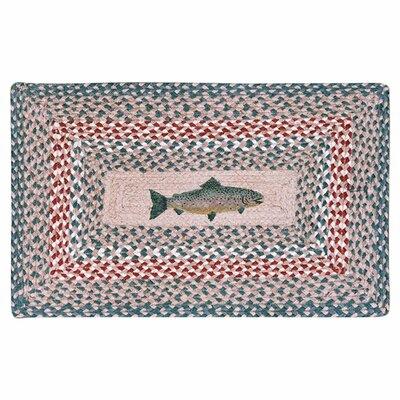 Earth Rugs Fish Printed Area Rug