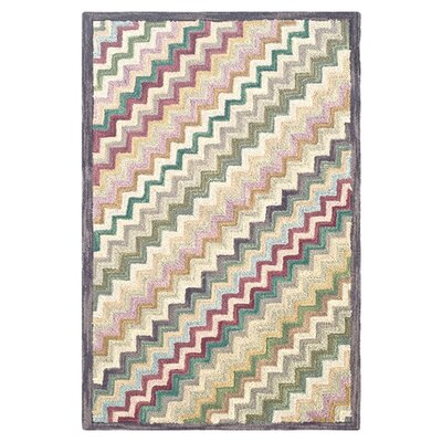Dash and Albert Rugs Hooked Steps Chevron Area Rug