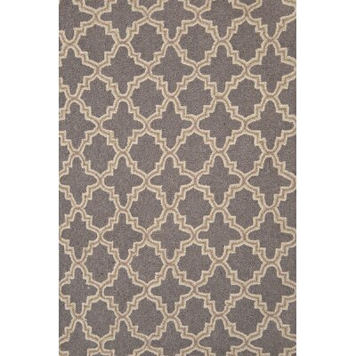 Dash And Albert Rugs Plain Tin Charcoal Wool Micro Hooked