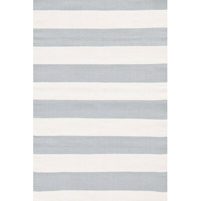 Dash and Albert Rugs Blue & Ivory Striped Indoor/Outdoor Area Rug RDB197 XX