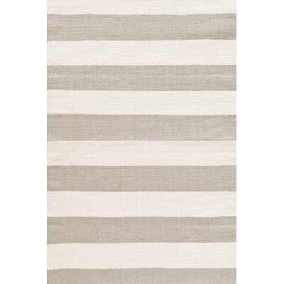 Dash and Albert Rugs Catamaran Ivory & Taupe Striped Indoor/Outdoor Area Rug RDB199 XX