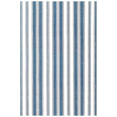Dash and Albert Rugs Royal Woven Lighthouse Denim & White Indoor/Outdoor Area Rug