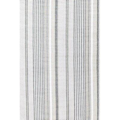 Dash and Albert Rugs Gradation Ticking Grey Stripe Area Rug