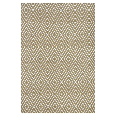 Dash and Albert Rugs Woven Khaki Diamond Indoor/Outdoor Area Rug