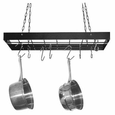 Rectangular Hanging Pot Rack by Fox Run Craftsmen