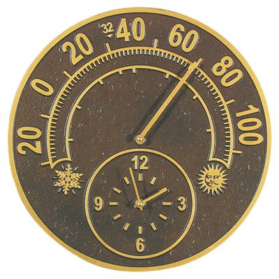 Whitehall Products Solstice Thermometer Clock