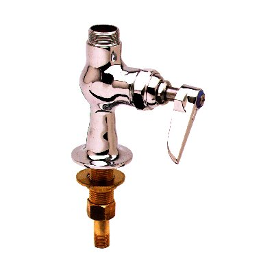 T&S Brass Single Hole Faucet with Double Jointed Swing Spout