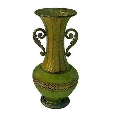 Cheungs Metal Vase with Detailed Design Cut Out