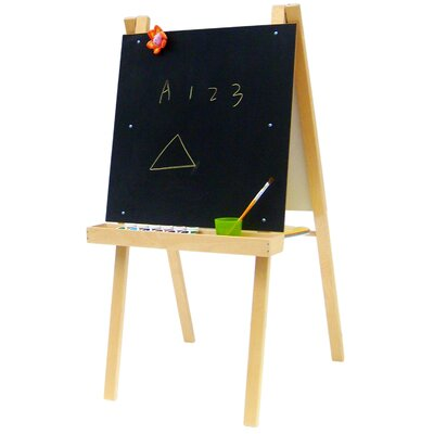 A+ Child Supply Economy Art Easel with Black / Dry Erase Board