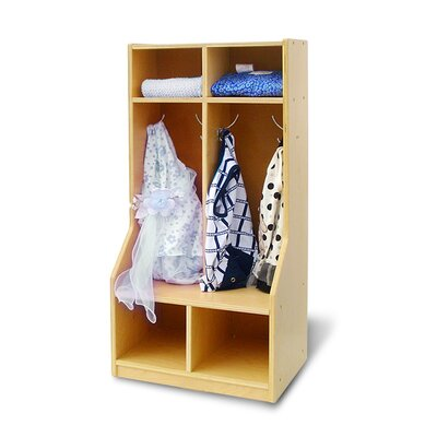 A+ Child Supply 1 Tier 2-Section Toddler Coat Locker
