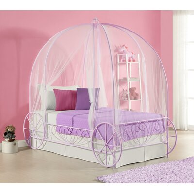 DHP Metal Twin Carriage Bed