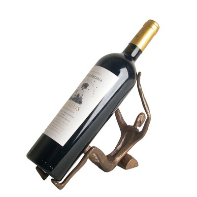 Man Laying 1 Bottle Tabletop Wine Rack by DanyaB