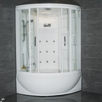 Steam Shower with Whirlpool Bathtub Product Photo