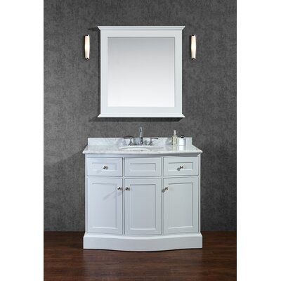 "Montauk 42"" Single Bathroom Vanity Set with Mirror Product Photo"