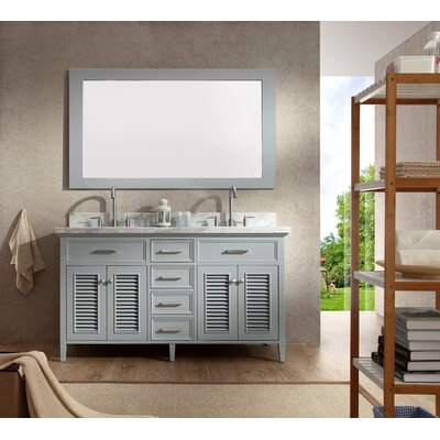 "Kensington 61"" Double Bathroom Vanity with Mirror Product Photo"