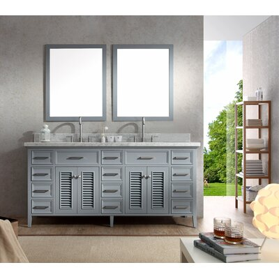 "Kensington 73"" Double Sink Vanity Set with Mirror Product Photo"