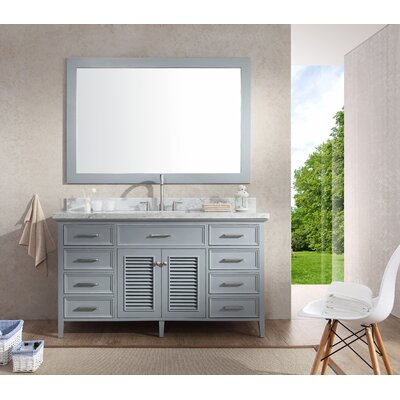 "Kensington 61"" Single Sink Vanity Set with Mirror Product Photo"