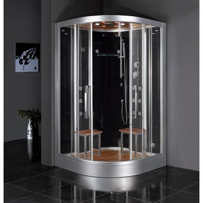 "Platinum 47.2"" x 47.2"" x 89""  Neo-Angle Door Steam Shower Product Photo"