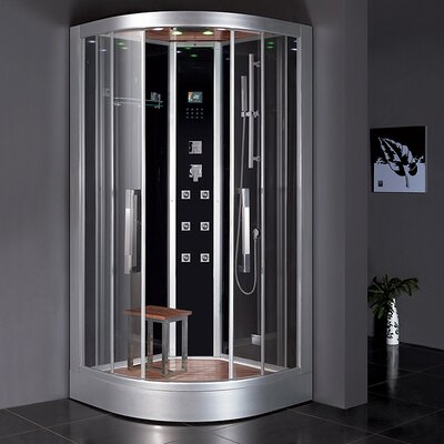 "Platinum 39.4"" x 39.4"" x 89"" Neo-Angle Door Steam Shower Product Photo"