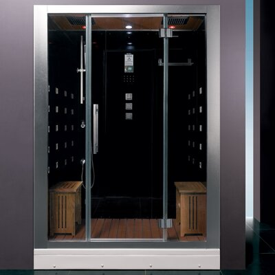 "Platinum 59"" x 32"" x 87.4"" Neo-Angle Door Steam Shower Product Photo"