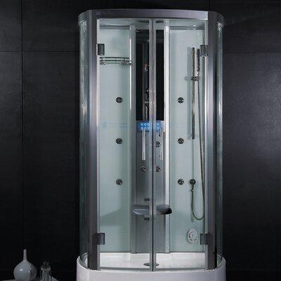 "Platinum 47.2"" x 33.5"" x 88.6""  Neo-Angle Door Steam Shower Product Photo"