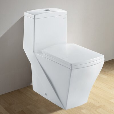 Granada Contemporary Elongated 1 Piece Toilet with Dual Flush Product Photo