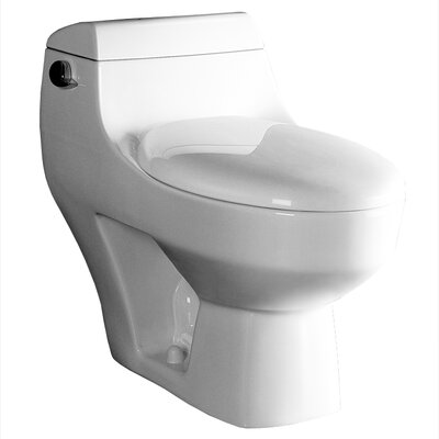 Athena Contemporary 1.6 GPF Elongated 1 Piece Toilet Product Photo