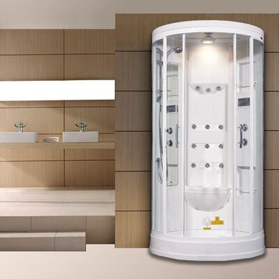 "Sliding Door 85"" x 40"" x 40"" Steam Sauna Shower with Bath Tub Product Photo"