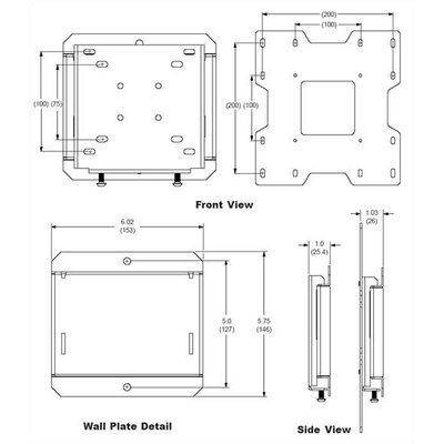 "Peerless Smart Mount Fixed Universal Wall Mount for 22""- 40"" Flat Panel Screens"