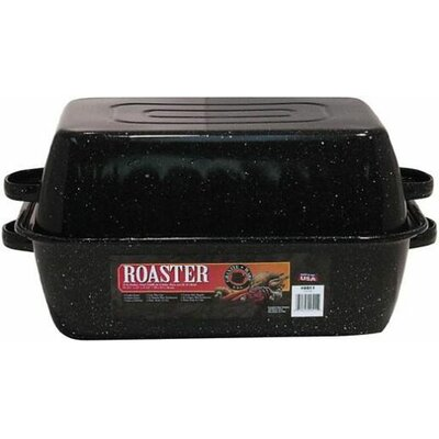 Large Covered Rectangular Roaster by Granite Ware